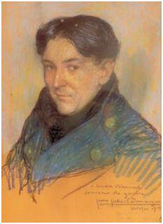 Andre-Warnod peint par jean gabriel Domergue, 1915