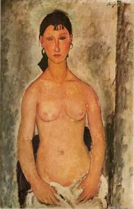 Portrait d'Elvire, huile sur toile, 1918 (C.272)