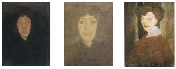 Peut-être les 3 premiers tableaux exposés à Paris