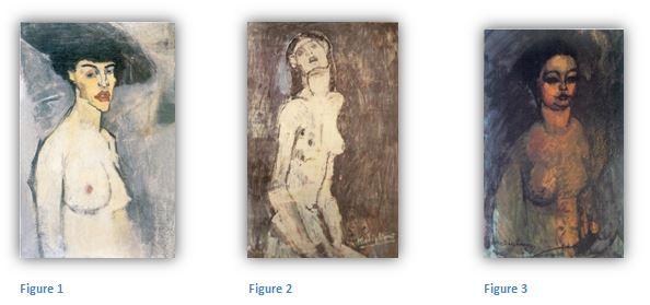 3 des tableaux présentés au Salon des Indépendants, 1908