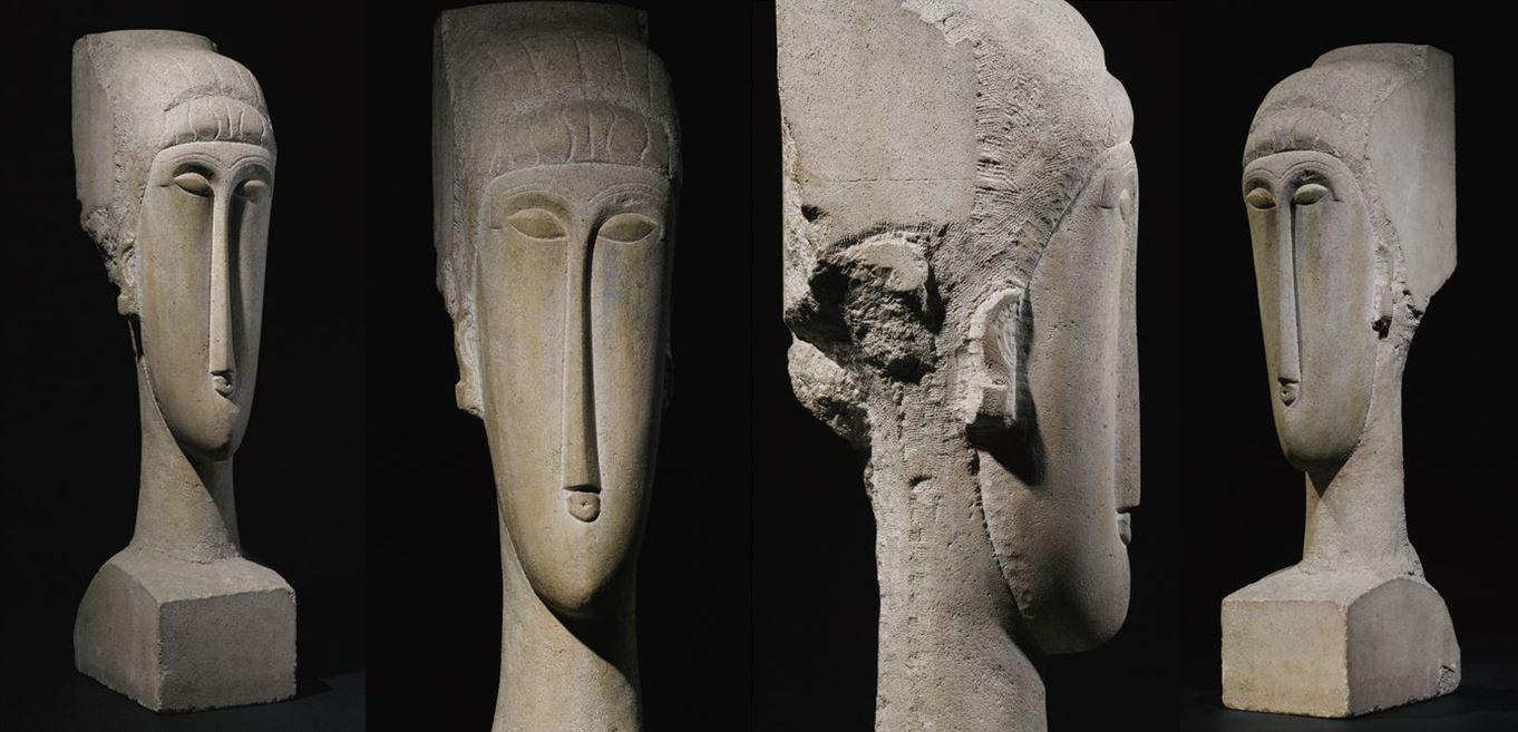 Tête, H. 73 cm., c.1911-12, pierre calcaire, Ceroni XXII